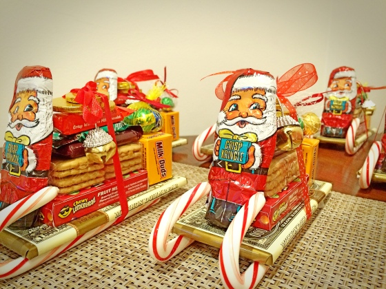 the nice thing about these sleighs are that they can be totally different depending on what supplies you use you may add your own personal touch or - Candy Sleighs For Christmas